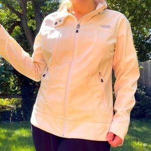 White North Face Windbreaker winter jacket